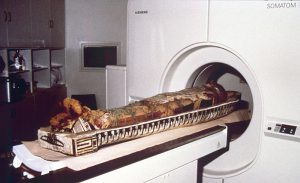 The mummy in a CT scanner