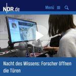 NDR Hamburg Journal Nacht des Wissens 2017